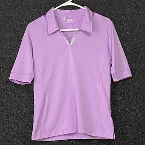 Adidas ClimaCool Light Purple Golf Shirt